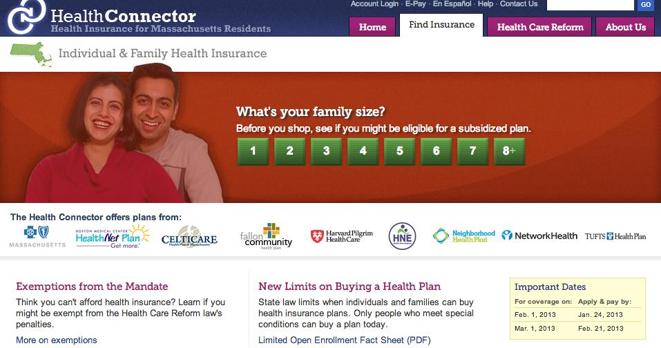 Massachusetts Health Insurance Exchange