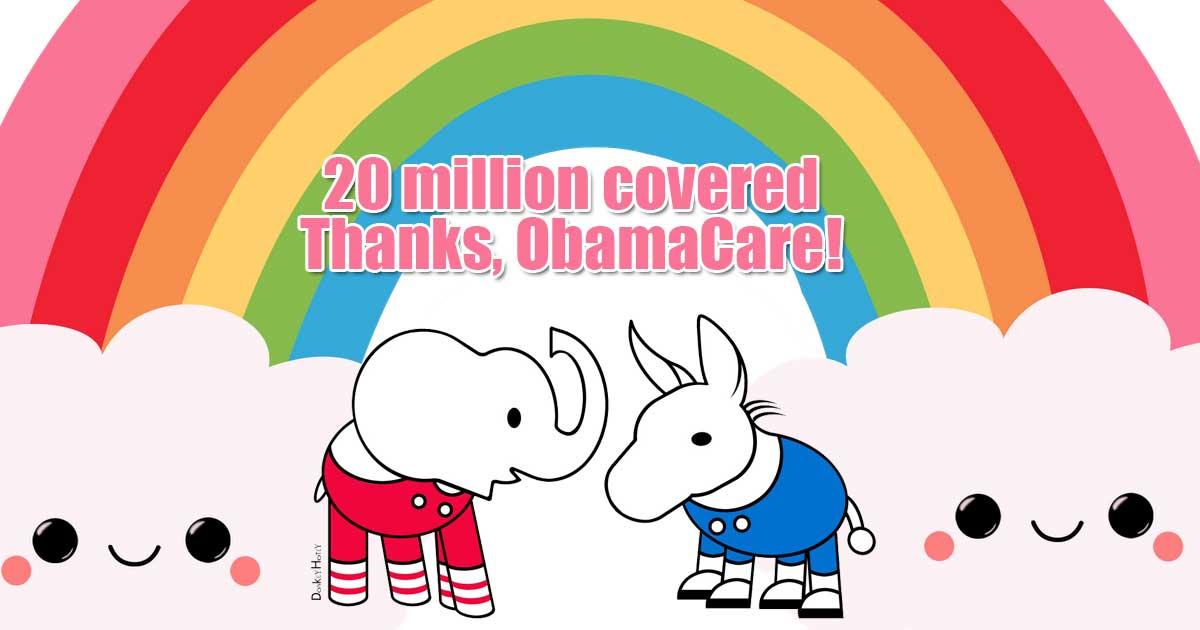 20 Million covered under ACA
