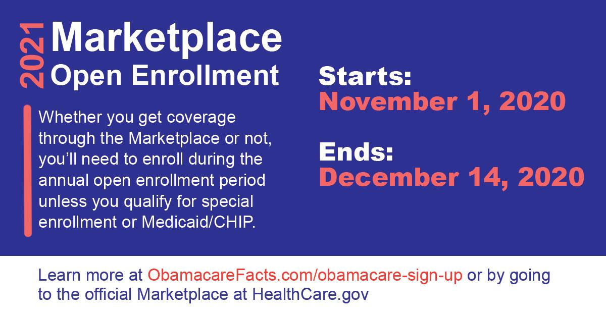 ObamaCare Open Enrollment 2021